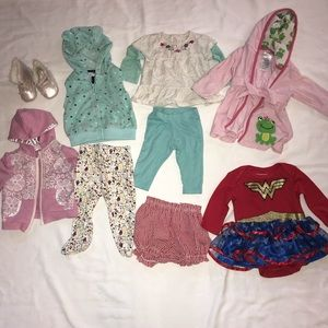 Bundle of 9 baby girl clothes